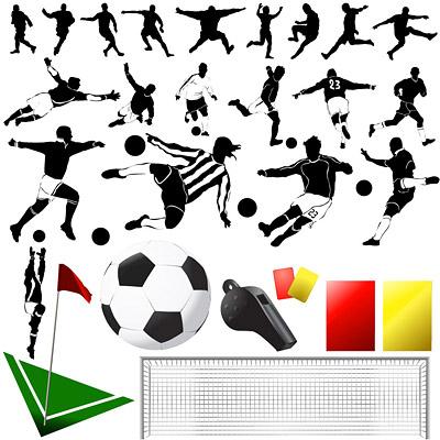 ベクター要素のサッカーのテーマ