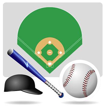 Equipo de béisbol de vectores