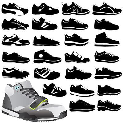 Zapatos de vectores