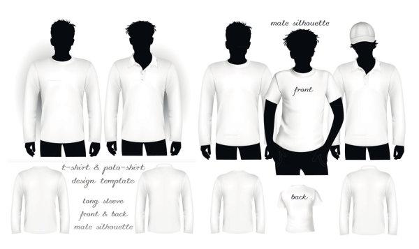 空白の t シャツとポロシャツ t シャツ ベクトル