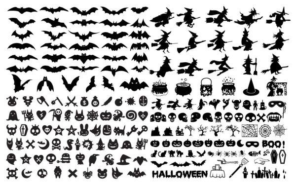 Éléments du vecteur d'Halloween