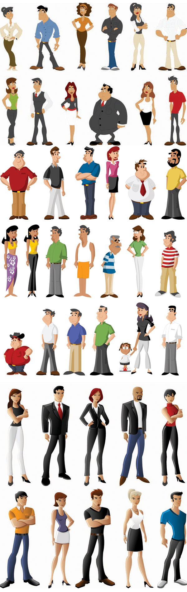 Todo tipo de personajes de dibujos animados - Vector