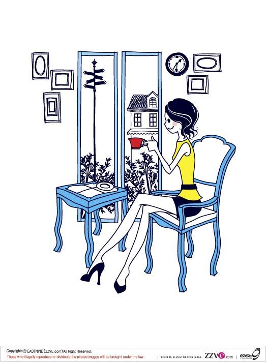 Simples dibujos de mujeres -1