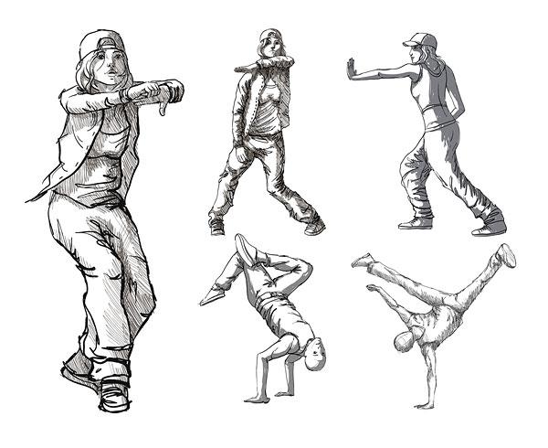 춤 인물 벡터 소재