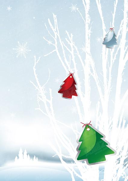 ベクトル クリスマス雪