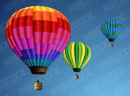 Material de vetor de balão de ar quente