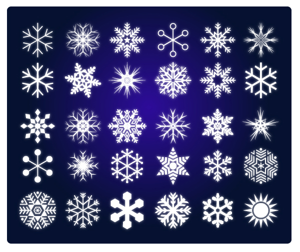 Vector de nieve