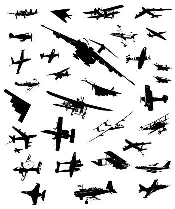 Avions, matériel de chasse vecteur