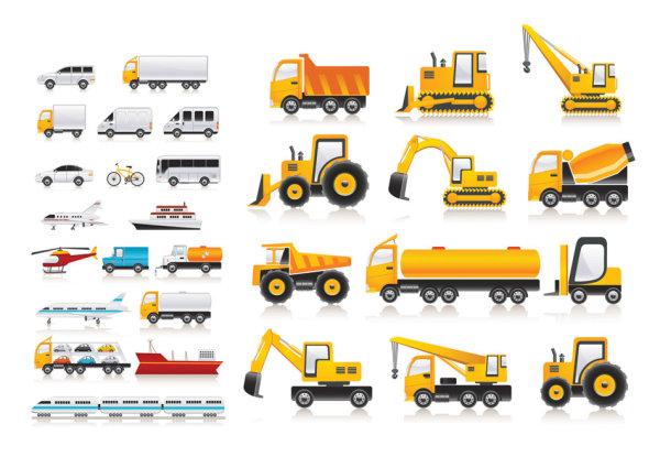 Variété de matériel de transport vecteur