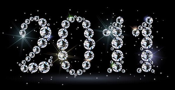 2011 년 구성 된 다이아몬드 소재 벡터