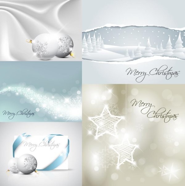 Vector de Navidad blanca