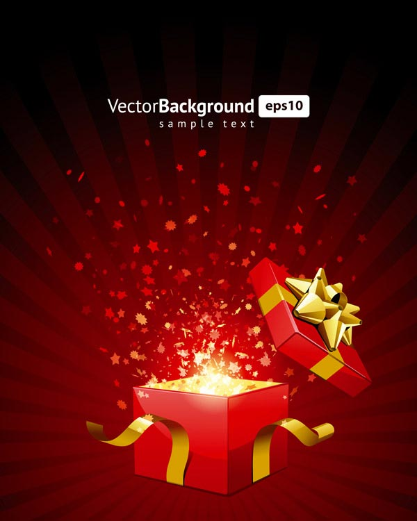 Ouvrez le don de vecteur