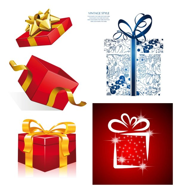 Vector de regalo