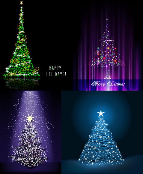 Flash vector de árboles de Navidad