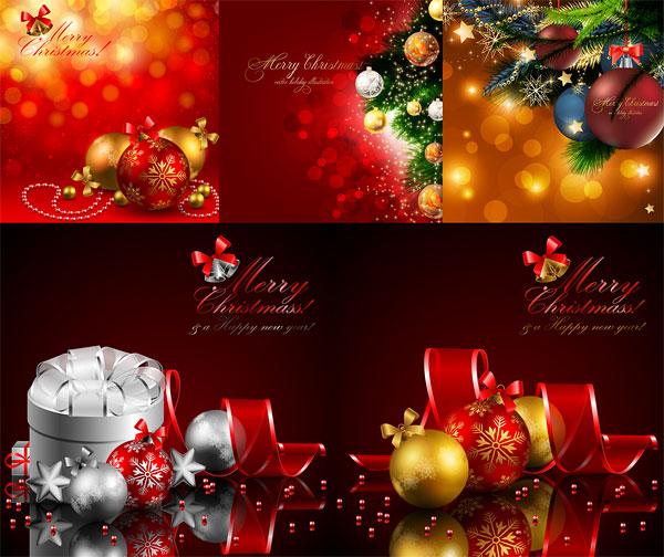 Super bonitos vectores de Navidad