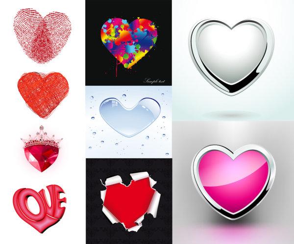 Matériau de vecteur pour le patron élément en forme de cœur