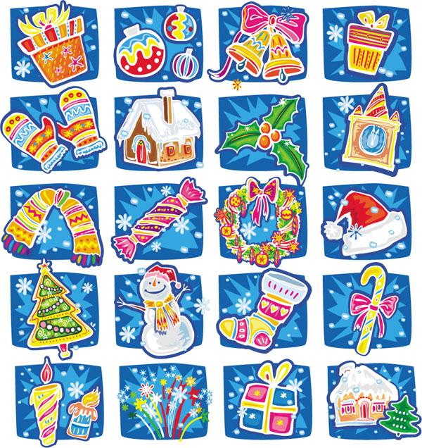 Ручной тяге мультфильм векторные рождественские