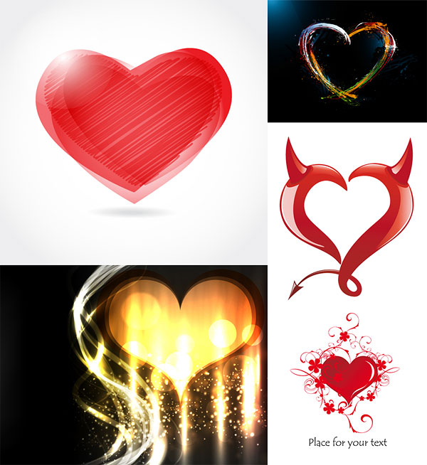 Romantique graphique en forme de cœur