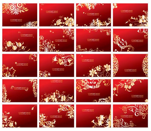 Красные карточки вектор шаблон