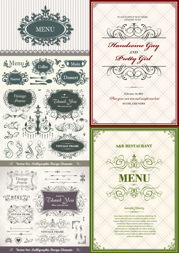 Classic pattern border Vector