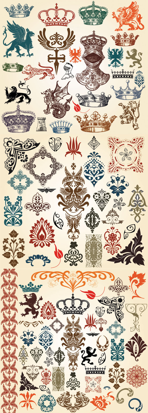Europäischen klassischen Muster Totem Vektor
