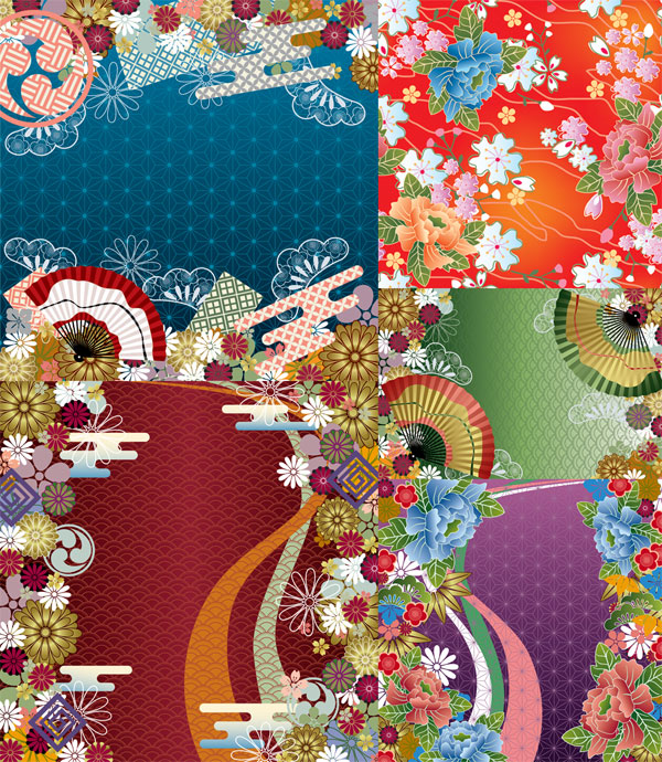 Japanese Wind Vector background patterns
