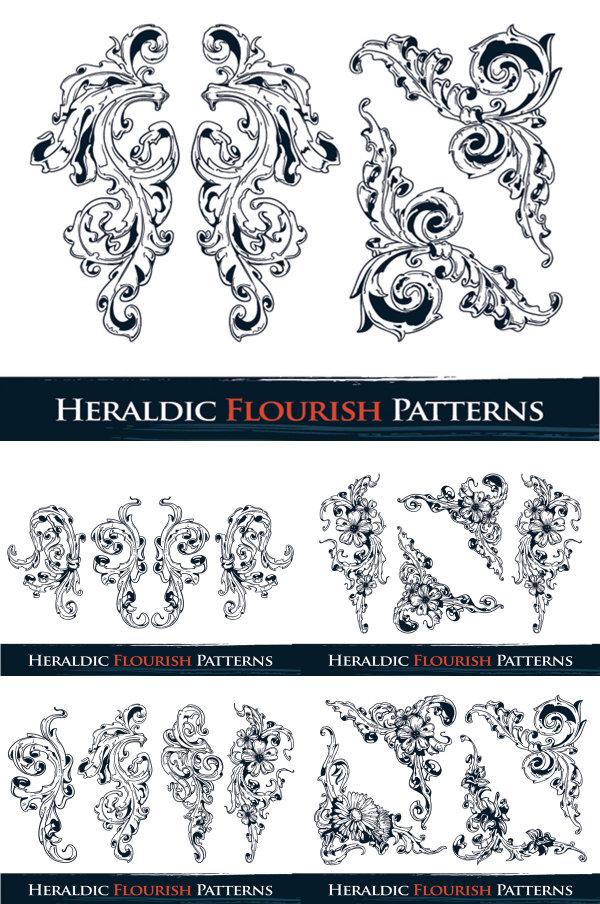 華やかなパターン ベクトル材料