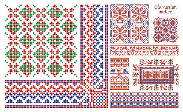 Padrão de estilo de borda de vetor-pixel