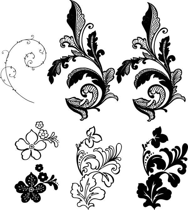 Côté fleur patron vecteur documentation