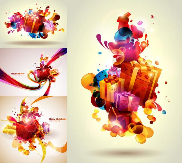 Regalos de Navidad coloridos Vector