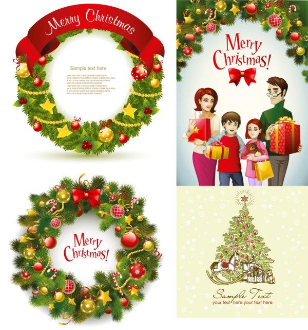 Прекрасные Рождественский венок - вектор