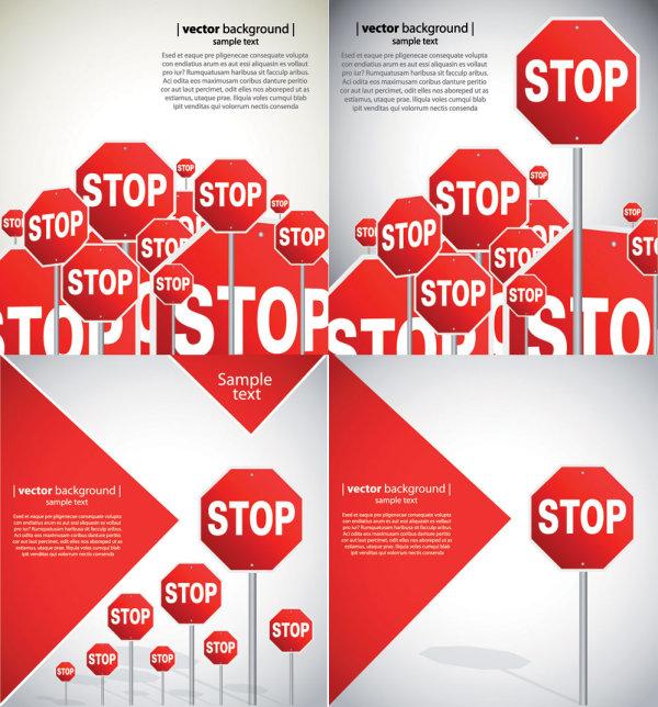 Panneaux de signalisation routière belle - matériel de vecteur