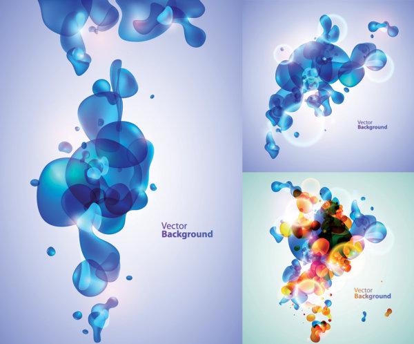 Material de vectores de tema de burbuja de fantasía