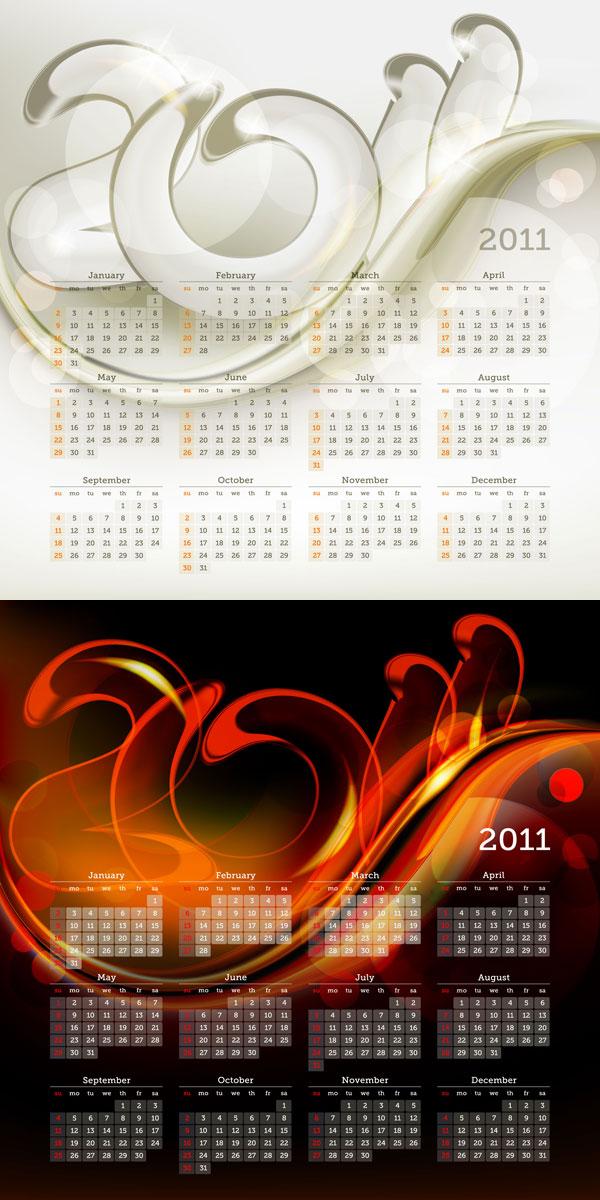 Modèle de calendrier 2011 01 - vecteur
