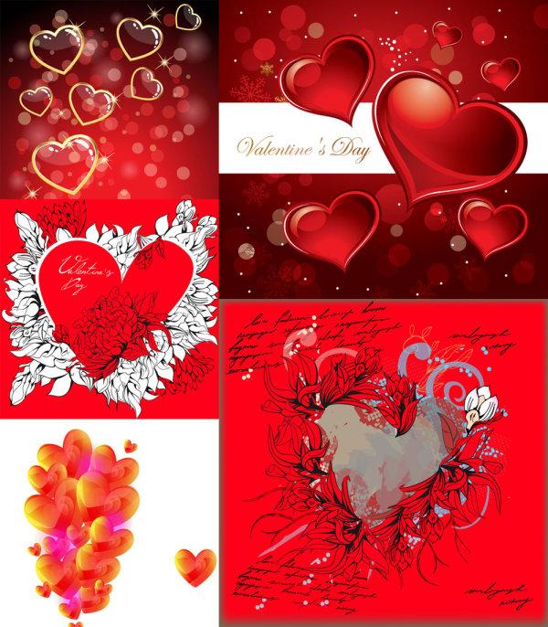Romántico en forma de corazón - Vector
