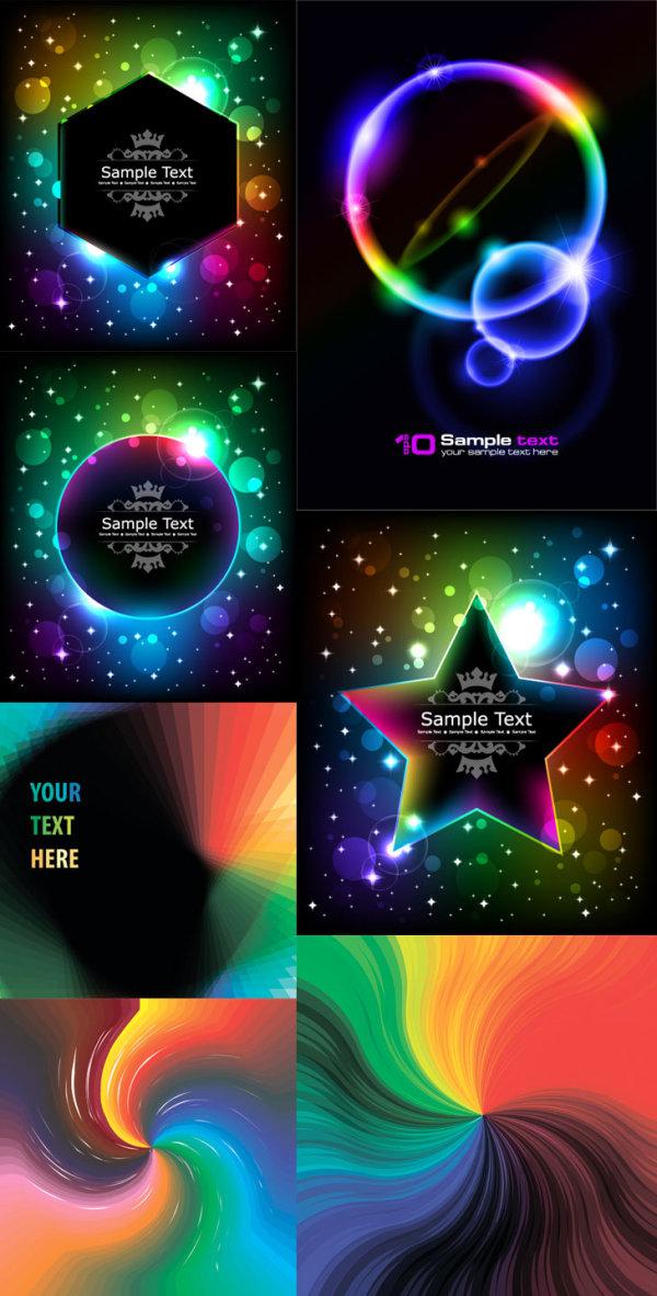 Efectos de color brillante - Vector de Halo