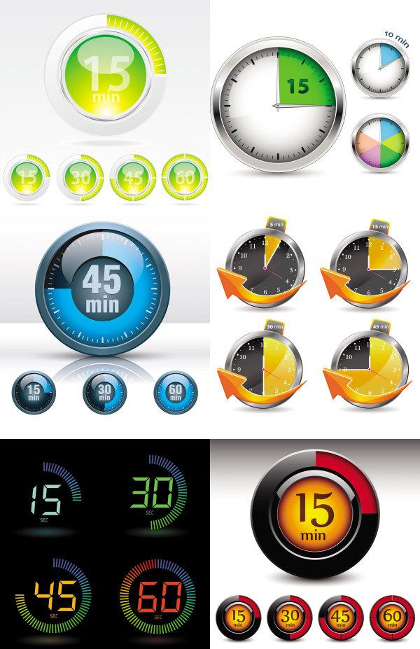 Relógios e instrumentos - Vector