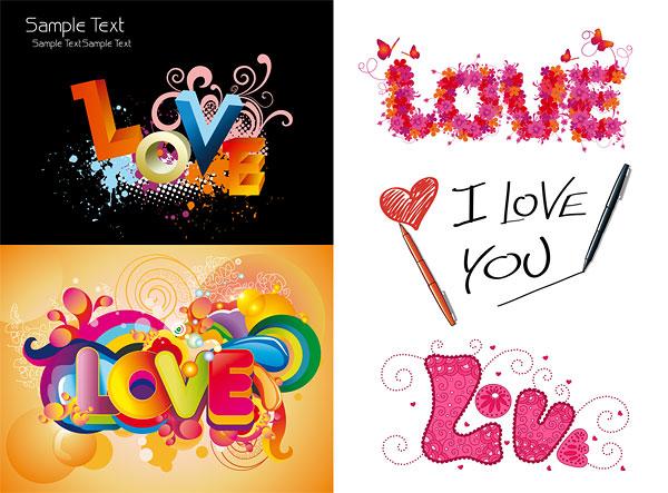 Kata Kunci Cinta Cinta Kekasih Cinta Wordart Grafis Tiga