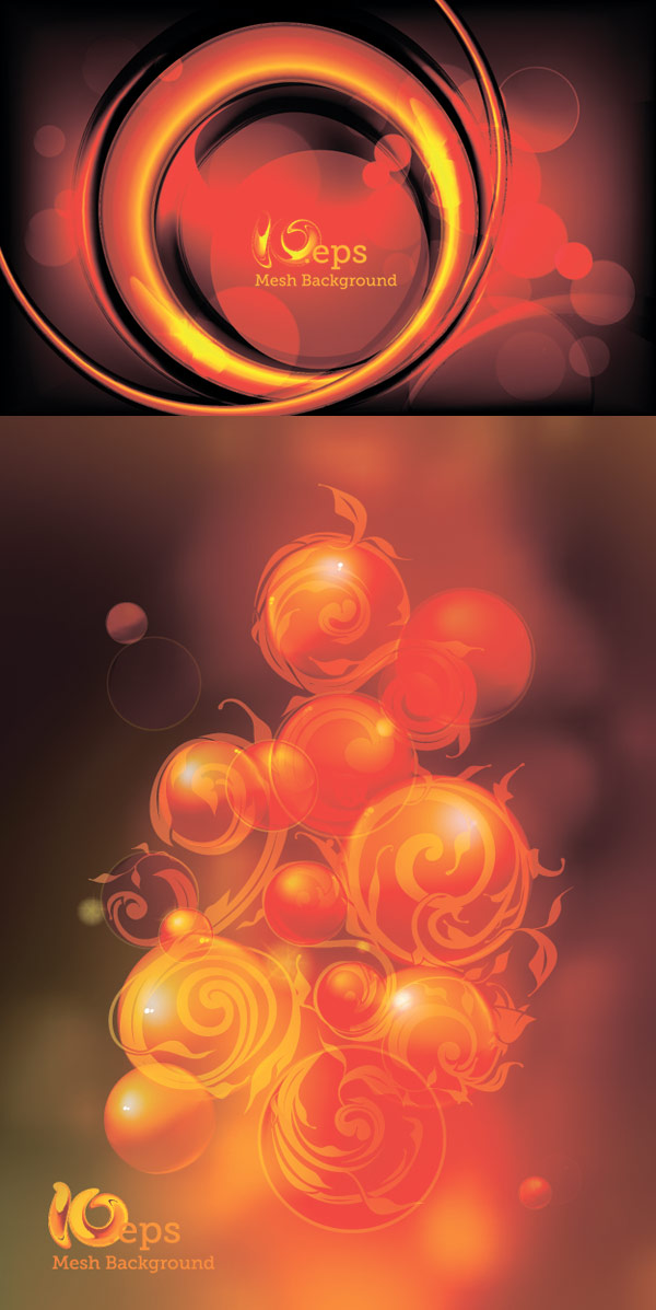 Flaming esfera fondo vectorial