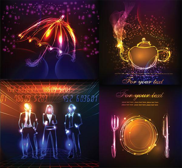 Elementos arrastrados a la luz vectorial