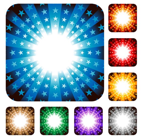 다채로운 벡터 방사 패턴