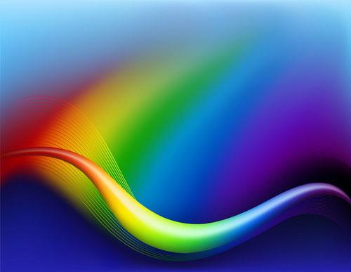 Vecteur de la ligne de flux dynamique 04--coloré