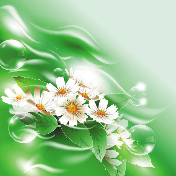 Matériau de vecteur de belles fleurs 03--