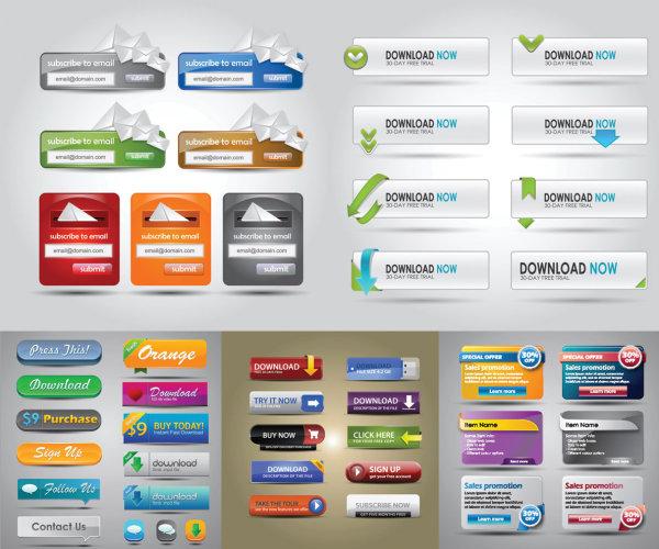 Les éléments de conception Web vecteur matériel
