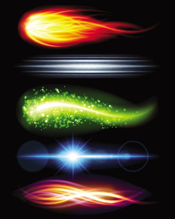 Superbe éclairage lumineux effets 05--vectorielles matériel