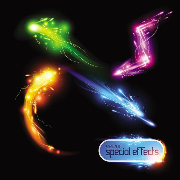 magnficos efectos de luz brillantes vector