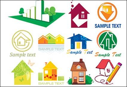 Más de cincuenta formas casa vector icono