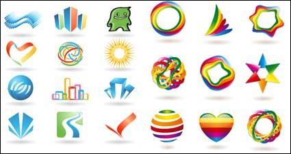 Некоторые логотип векторных графических материалов