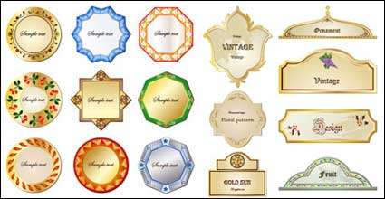 Tarjetas decorativas europeas vector material