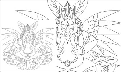 Lijiang Naxi Dieu de matériel de vecteur de Big Bird